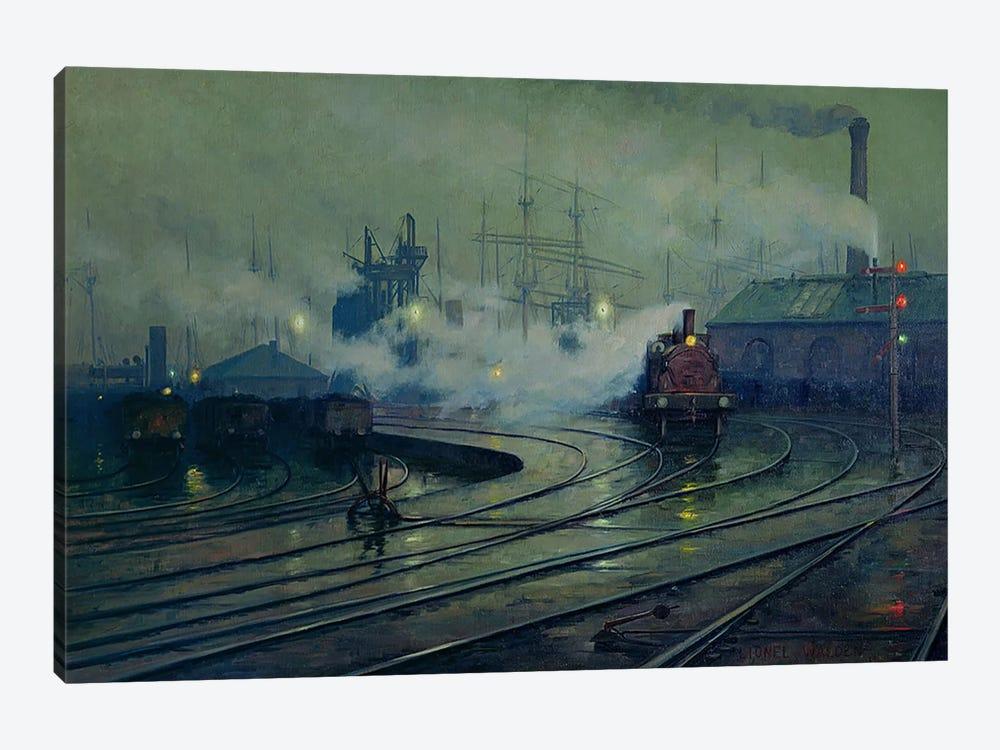 Cardiff Docks, 1896  by Lionel Walden 1-piece Canvas Artwork