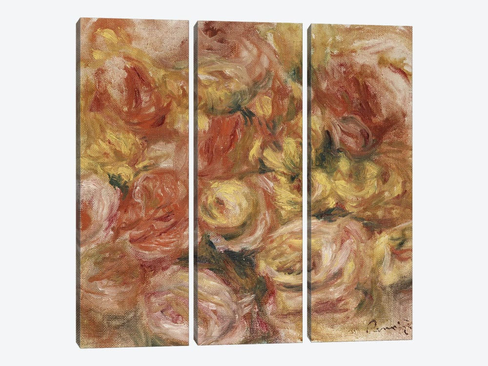 Flower Sketch, c.1914  by Pierre-Auguste Renoir 3-piece Canvas Artwork