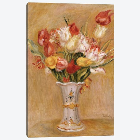 Tulips  3-Piece Canvas #BMN5082} by Pierre-Auguste Renoir Canvas Art Print