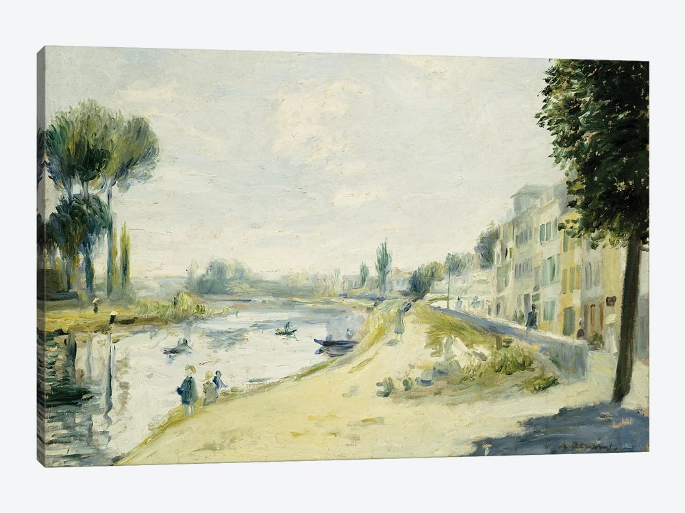 The Banks of the Seine at Bougival, c.1875  by Pierre-Auguste Renoir 1-piece Canvas Artwork