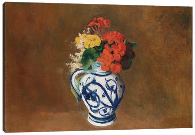 Flowers in a Blue Vase, c.1900  Canvas Art Print