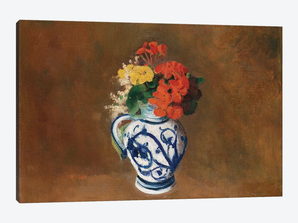 Flowers in a Blue Vase, c.1900  by Odilon Redon 1-piece Art Print