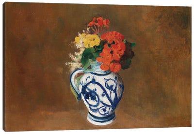 Flowers in a Blue Vase, c.1900  Canvas Art Print