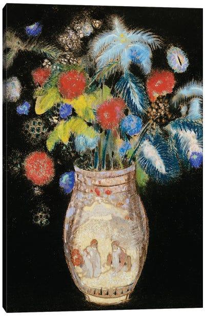 Large Bouquet on a Black Background, c.1910  Canvas Art Print
