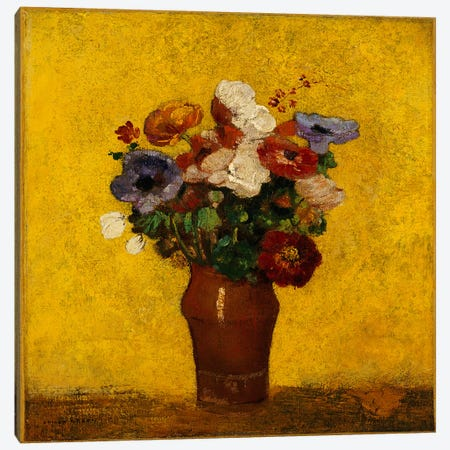 Flowers  Canvas Print #BMN5088} by Odilon Redon Art Print