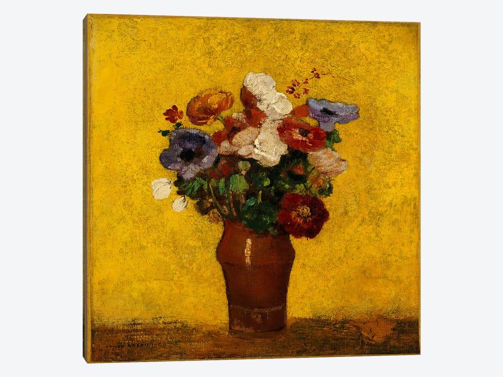 Flowers  by Odilon Redon 1-piece Canvas Print