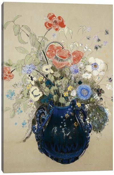 A Vase of Blue Flowers, c.1905-08  Canvas Art Print