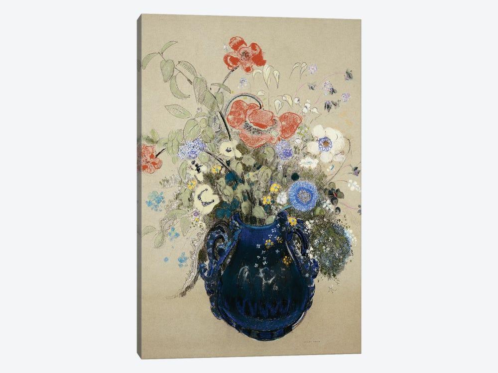 A Vase of Blue Flowers, c.1905-08  by Odilon Redon 1-piece Canvas Artwork