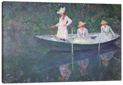The Boat at Giverny, c.1887  Canvas Art Print