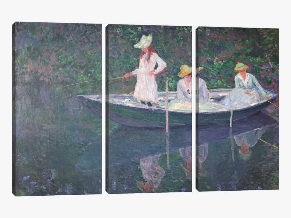 The Boat at Giverny, c.1887  by Claude Monet 3-piece Art Print
