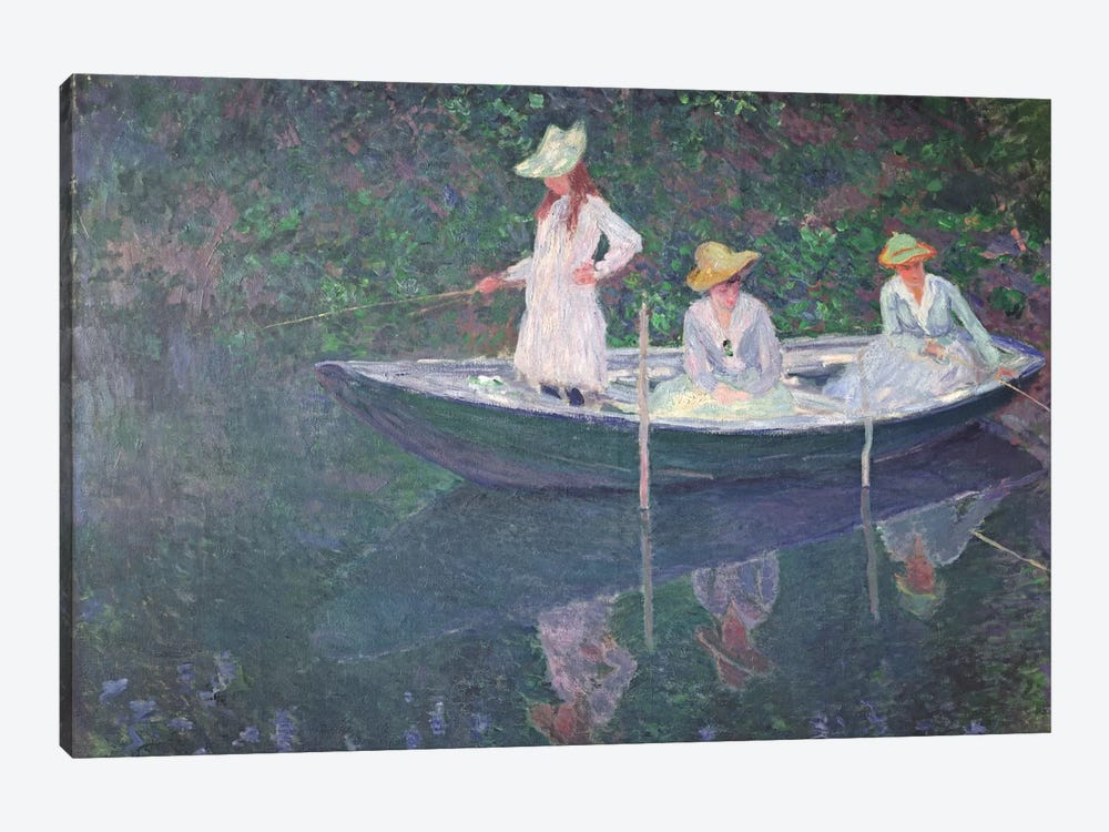The Boat at Giverny, c.1887  by Claude Monet 1-piece Art Print