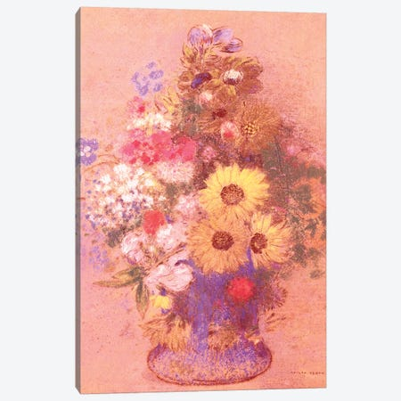 Vase of Flowers  Canvas Print #BMN5090} by Odilon Redon Canvas Art
