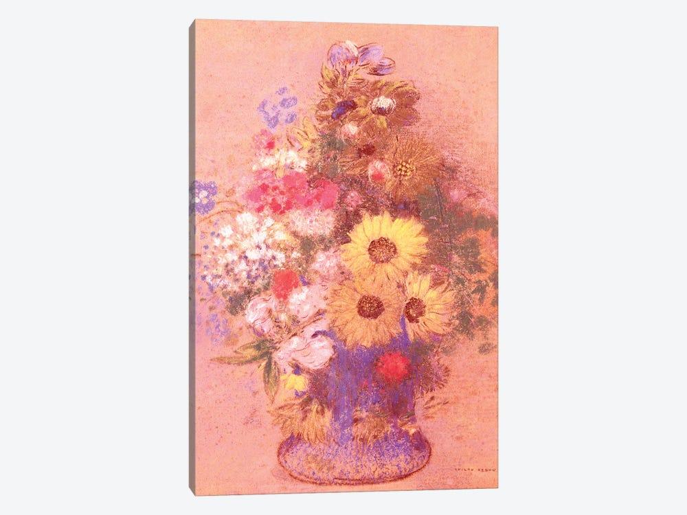 Vase of Flowers  by Odilon Redon 1-piece Canvas Artwork