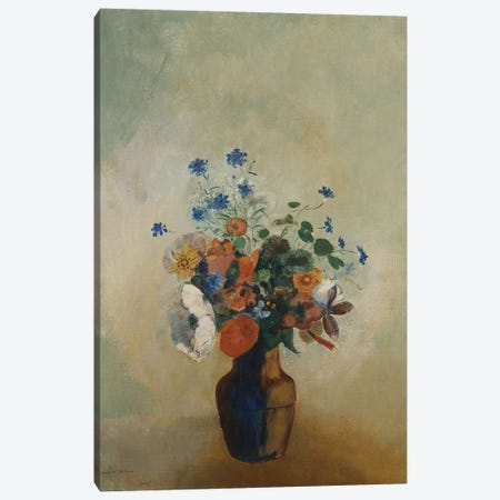 Wild Flowers, c.1902  Canvas Print #BMN5091} by Odilon Redon Canvas Art