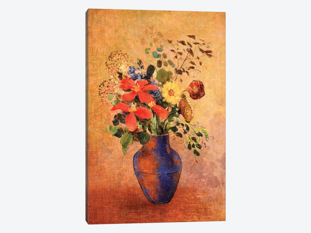 The Blue Vase  by Odilon Redon 1-piece Canvas Print