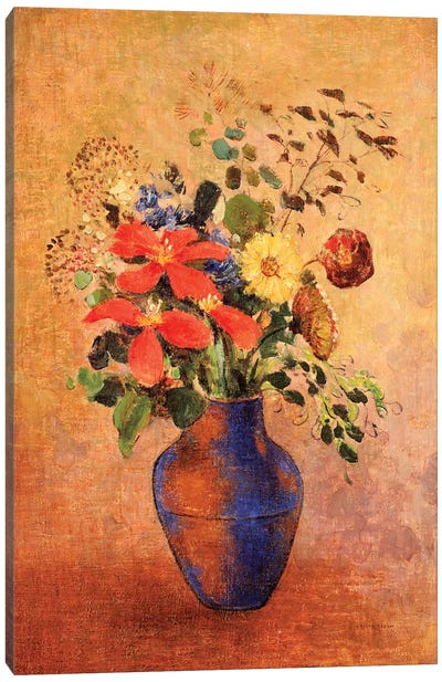 The Blue Vase  Canvas Art Print