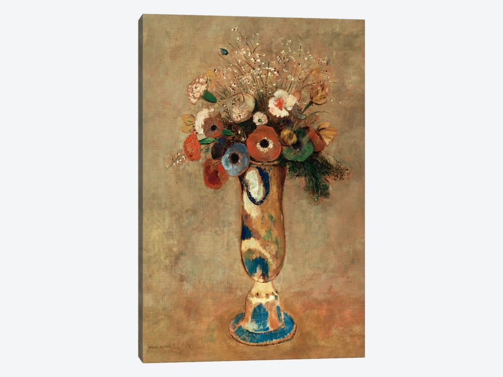 Vase of Flowers, 1912 by Odilon Redon 1-piece Canvas Artwork