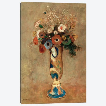 Vase of Flowers, 1912  Canvas Print #BMN5094} by Odilon Redon Canvas Art Print