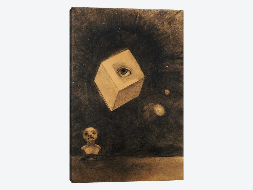 Eye  by Odilon Redon 1-piece Canvas Wall Art