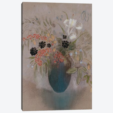 Flowers in a Vase  Canvas Print #BMN5097} by Odilon Redon Canvas Print
