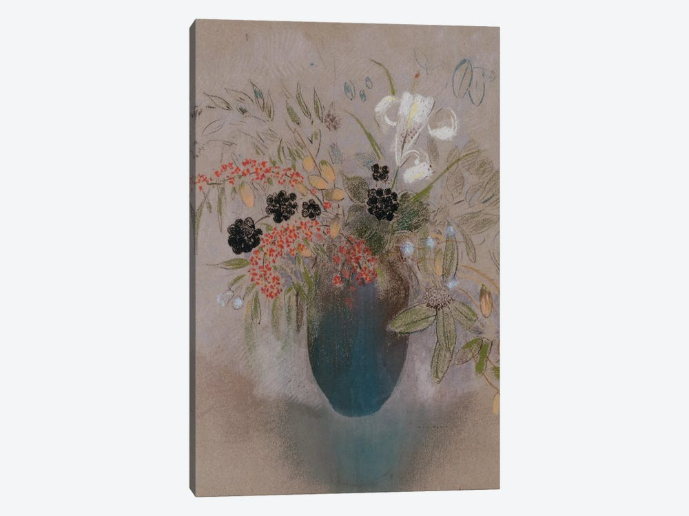 Flowers in a Vase  by Odilon Redon 1-piece Canvas Print