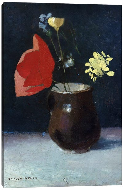 A Pitcher of Flowers Canvas Art Print