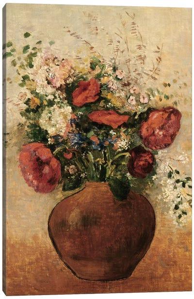 Vase of Flowers Canvas Print #BMN5099