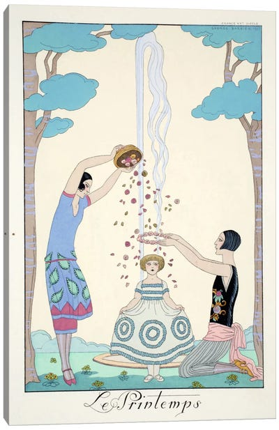 Spring, from 'Falbalas & Fanfreluches, Almanach des Modes Présentes Canvas Art Print
