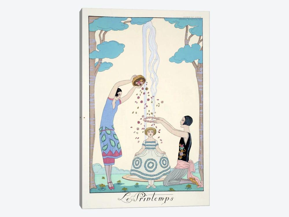 Spring, from 'Falbalas & Fanfreluches, Almanach des Modes Présentes by George Barbier 1-piece Art Print