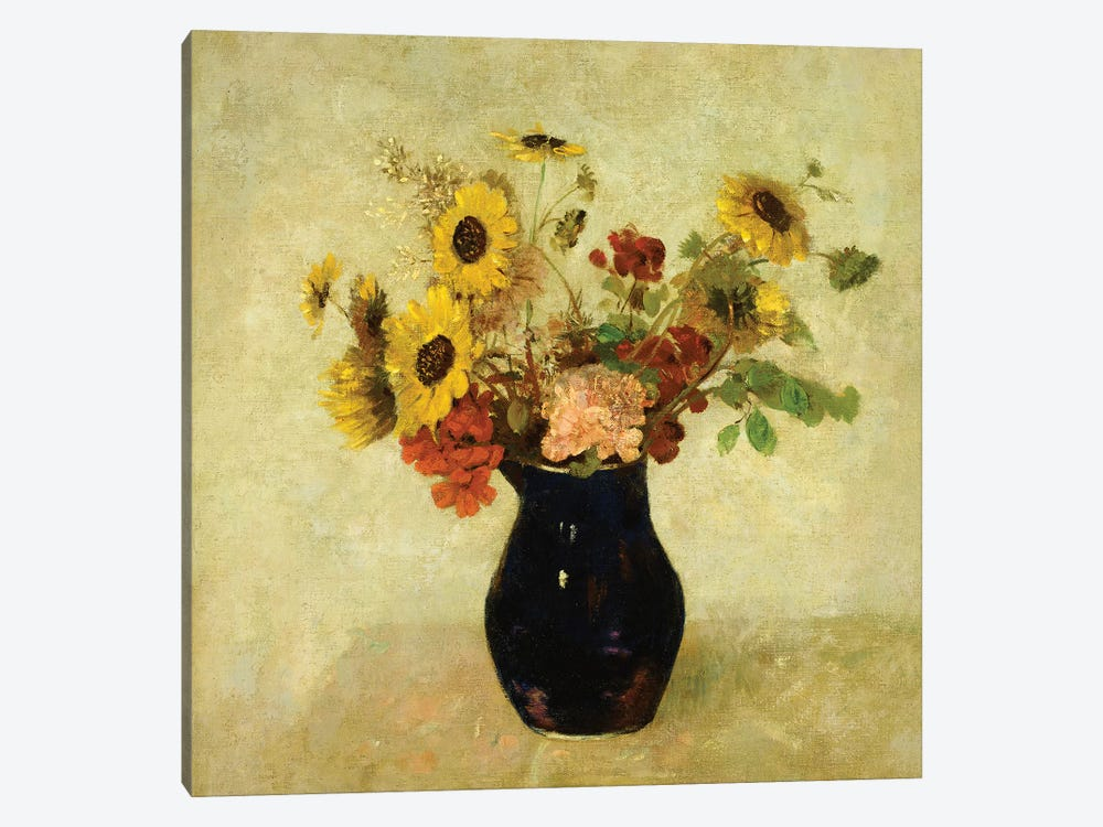 Vase of Flowers by Odilon Redon 1-piece Canvas Artwork