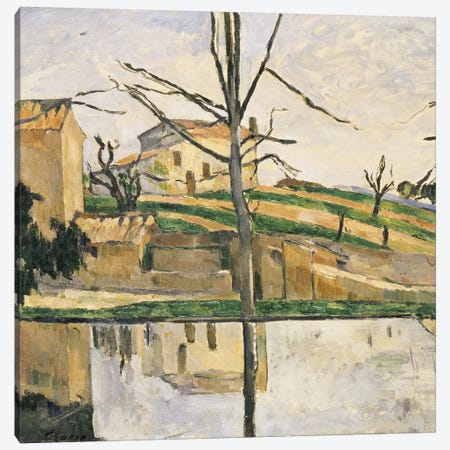 The Pool at Jas de Bouffan, c.1878  Canvas Print #BMN5105} by Paul Cezanne Canvas Art Print