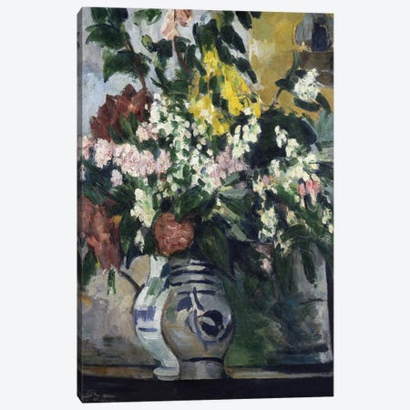 Two Vases of Flowers, c.1877  Canvas Print #BMN5106} by Paul Cezanne Art Print