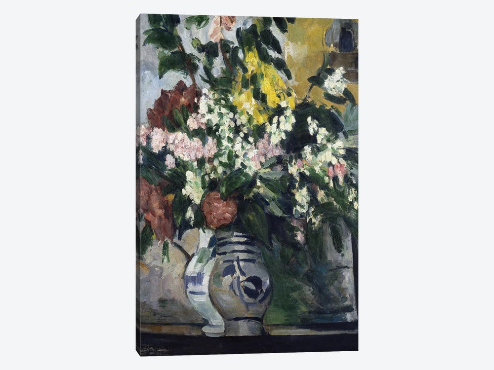 Two Vases of Flowers, c.1877  by Paul Cezanne 1-piece Canvas Wall Art