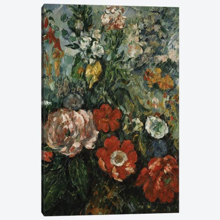 Flowers, c.1879  Canvas Print #BMN5107} by Paul Cezanne Canvas Print