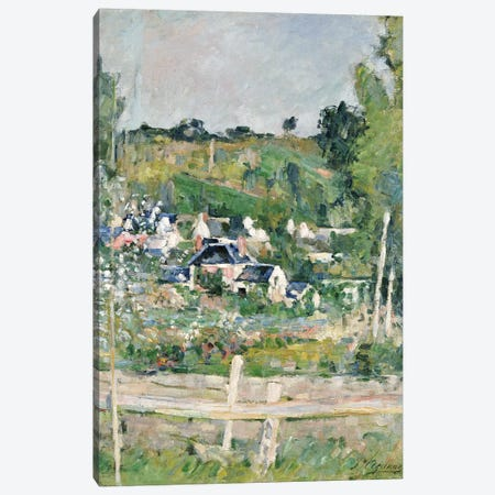A View of Auvers-sur-Oise, The Fence, c.1873  Canvas Print #BMN5108} by Paul Cezanne Canvas Wall Art