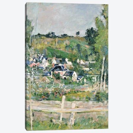 A View of Auvers-sur-Oise, The Fence, c.1873  Canvas Print #BMN5108} by Paul Cezanne Canvas Wall Art