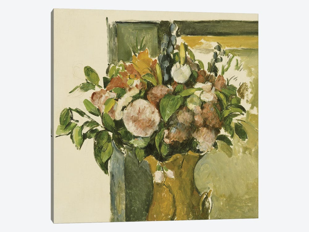 Flowers in a Vase  by Paul Cezanne 1-piece Canvas Print