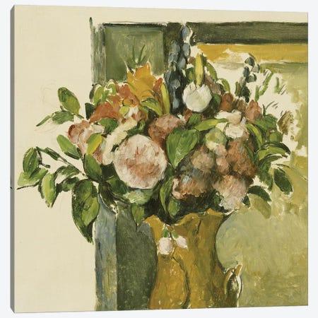 Flowers in a Vase  Canvas Print #BMN5109} by Paul Cezanne Canvas Wall Art