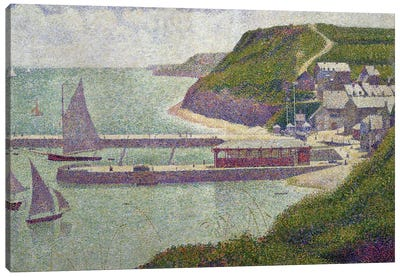 Harbour at Port-en-Bessin at High Tide, 1888  Canvas Art Print