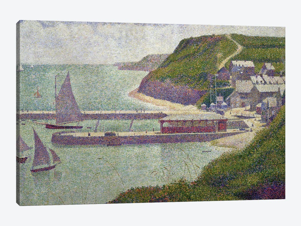 Harbour at Port-en-Bessin at High Tide, 1888  by Georges Seurat 1-piece Canvas Artwork