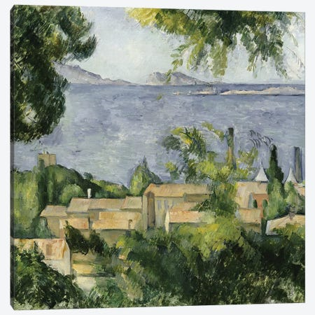 The Rooftops of l'Estaque, 1883-85  Canvas Print #BMN5110} by Paul Cezanne Art Print