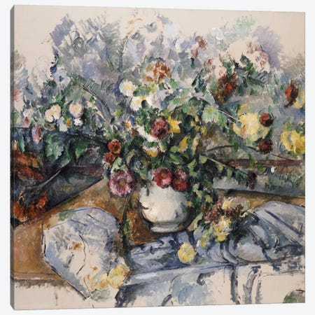 A Large Bouquet of Flowers, c.1892-95  Canvas Print #BMN5111} by Paul Cezanne Art Print