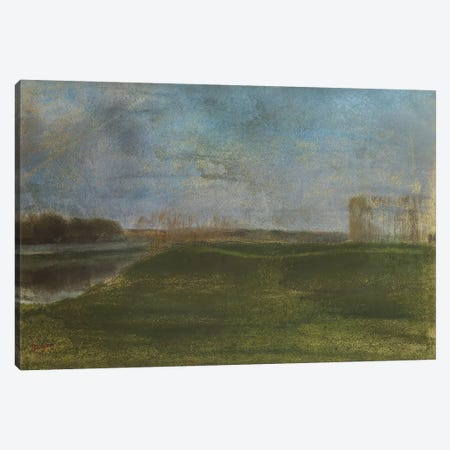 Meadow by the River  Canvas Print #BMN5113} by Edgar Degas Canvas Art Print