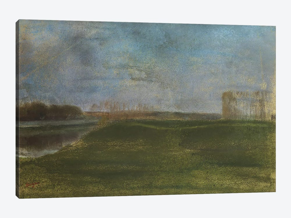 Meadow by the River 1-piece Canvas Wall Art