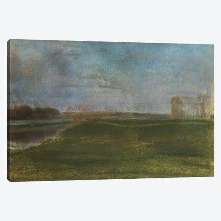 Meadow by the River  Canvas Print #BMN5113} by Edgar Degas Canvas Art Print