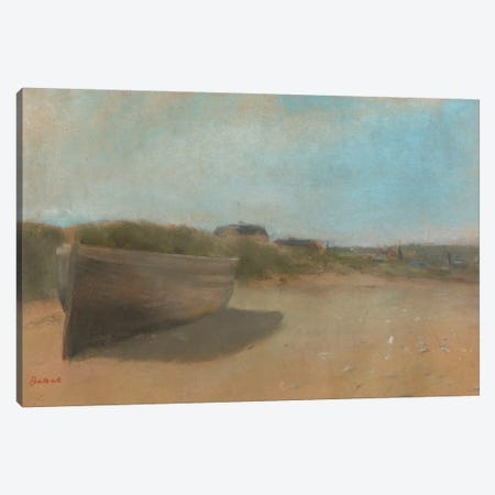 Boat on the Beach, c.1869  Canvas Print #BMN5114} by Edgar Degas Canvas Artwork