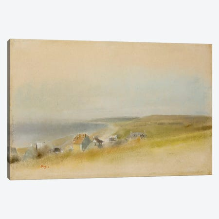Houses on the Cliff Edge at Villers-sur-Mer, 1869  Canvas Print #BMN5116} by Edgar Degas Canvas Art