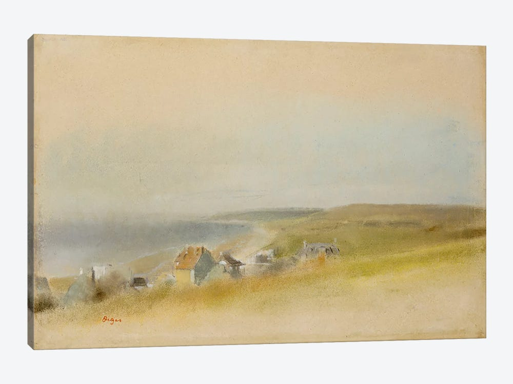 Houses on the Cliff Edge at Villers-sur-Mer, 1869 by Edgar Degas 1-piece Art Print