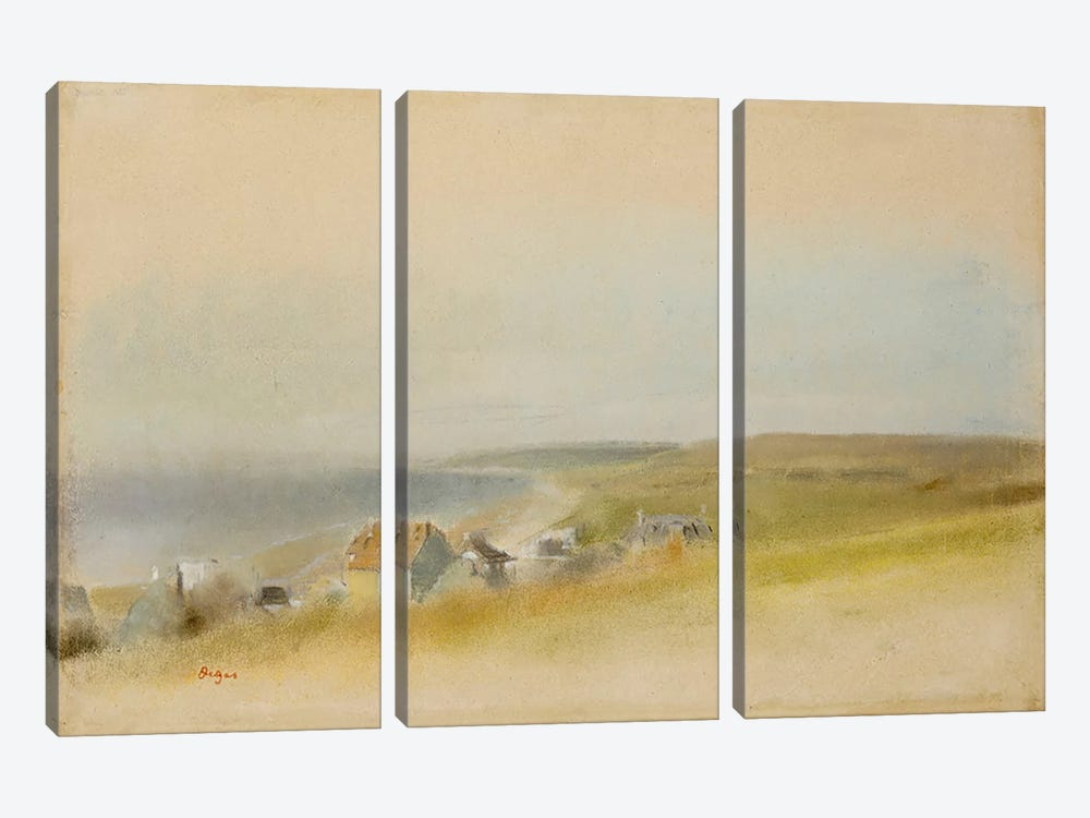 Houses on the Cliff Edge at Villers-sur-Mer, 1869 by Edgar Degas 3-piece Canvas Art Print