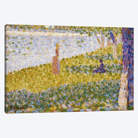 Women on the River Bank, c.1884-85  Canvas Print #BMN5117} by Georges Seurat Canvas Wall Art